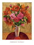 Fire Flowers Posters by Miroslav Bartak