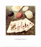 Straight Flush Prints by Alan Blaustein