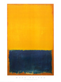 Gelb und blau Poster von Mark Rothko