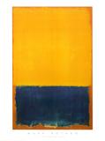Gelb und blau Poster von Mark Rothko