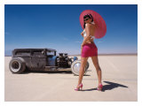 Pin-Up Girl: Salt Flat Rat Rod Giclee Print by David Perry