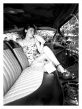 Pin-Up Girl: Front Seat Street Rod Giclée-tryk af David Perry