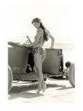 Pin-Up Girl: 1932 High Boy Salt Flat Giclee Print by David Perry