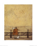Watching the Starlings with Doris Print by Sam Toft