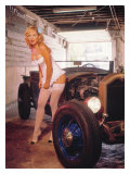Street Rods and Lingerie Giclee Print by David Perry