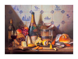 Delft Tiles and Fine Champagne Affiches par Raymond Campbell