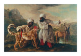 Cheetah and Stag with Two Indians Kunst af George Stubbs