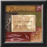 Words to Live By, Decor***patience Prints by Debbie DeWitt