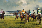Sandown Racecourse Samlertryk af Graham Isom