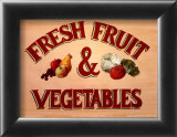 Fruits & Vegetables Sign Prints by Madison Michaels