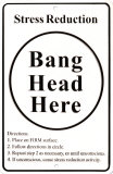 Bang Head Here Tin Sign