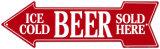 冷えたビールはこちら ブリキ看板