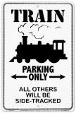 Train Placa de lata