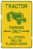 Tracteur Plaque en m&#233;tal