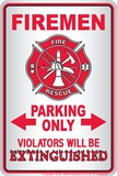 Firemen Tin Sign