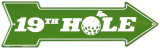 19Th Hole Tin Sign