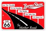 Burma Shave Tin Sign