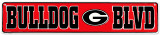 Georgia Bulldog Plaque en métal