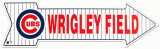 Wrigley Field, Chicago Blechschild