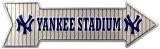 Stade des Yankees Plaque en métal