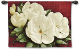 Magnolia Crimson Wall Tapestry by Igor Levashov