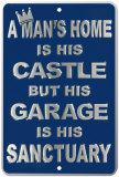 Le château de l'homme Plaque en métal