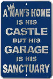 Man&#39;s Castle Tin Sign
