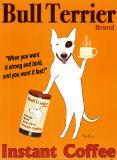 Bull Terrier, marca Láminas por Ken Bailey