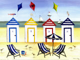 Beach Houses Print by Katharine Gracey