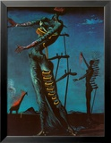Girafe en feu Posters par Salvador Dal&#237;