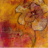 Scripted Bloom II Art by Jane Bellows
