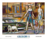 Girlfriends II Print by Elya de Chino