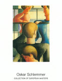 Gruppe Am Gelandernr, 1931 Print by Oskar Schlemmer