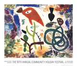 Community Holiday Festival Serigraph by Todd McKie