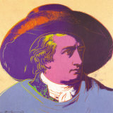 Goethe Red and Black Print by Andy Warhol