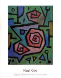 Heroische Rosen Art by Paul Klee