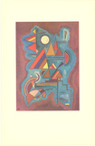 Cut-out Collectable Print by Wassily Kandinsky