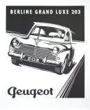 Peugeot, Berline Grand Luxe 203 Prints