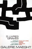 Cinq Livres Graves, 1974 Impresso de peas de colees por Eduardo Chillida