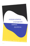 International University Choral Festival Serigraph by Charles Hinman