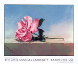 Community Holiday Festival, 1990 Serigraph by John Kelley