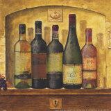 Mehrere Weinflaschen I Kunstdruck von G.p. Mepas