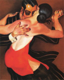 Femme au Robe Rouge Posters by Juarez Machado