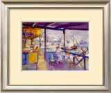 Terrace On A Sea Shore Prints by Konstantin A. Korovin