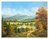 Chemin Qui Mene au Lac I Prints by Helmut Glassl