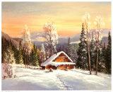 Siberian Winter Plakat af Helmut Glassl