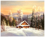 Siberian Winter Print by Helmut Glassl