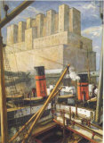 Le Port de Montreal, 1924. Prints by Adrien Hebert