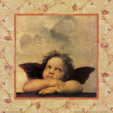 Detail of the Sistine Madonna, c.1514 Posters by Raphael 