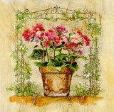 Tiesto Con Primulas Poster von A. Vega